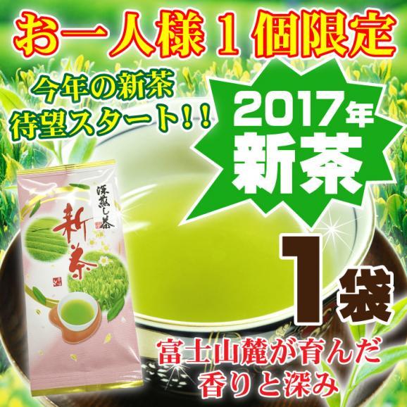 新茶 日本茶 深むし茶 静岡茶 国産 グリーンティー 全国送料無料 お試し 30g 2017年01