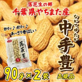 からつき落花生 やちまた産 中手豊品種 90g×2袋 八街 千葉 なかてゆたか ピーナッツ 全国送料無料