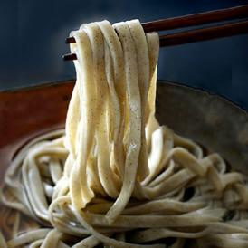 超極太平打ち麺!もっちり歯ごたえ「山芋そば」8食