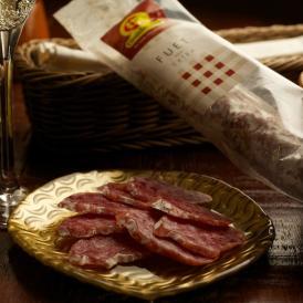 スペイン産白カビ熟成サラミ『フエ・エクストラ 175g 』3本 + スペイン産魚介缶詰め1個付 【送料無料】