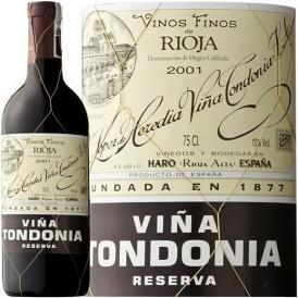 トンドニア・ティント・レセルバ 赤ワイン スペイン 中重口 テンプラニーリョ種 750ml