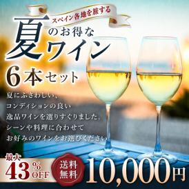 【送料無料】スペイン各地を旅する「夏のお得なワインセット(6本セット)」最大40~43%引き