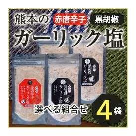 【選べる4袋セット】熊本のガーリック塩【熊本県産の塩とにんにく】 無添加