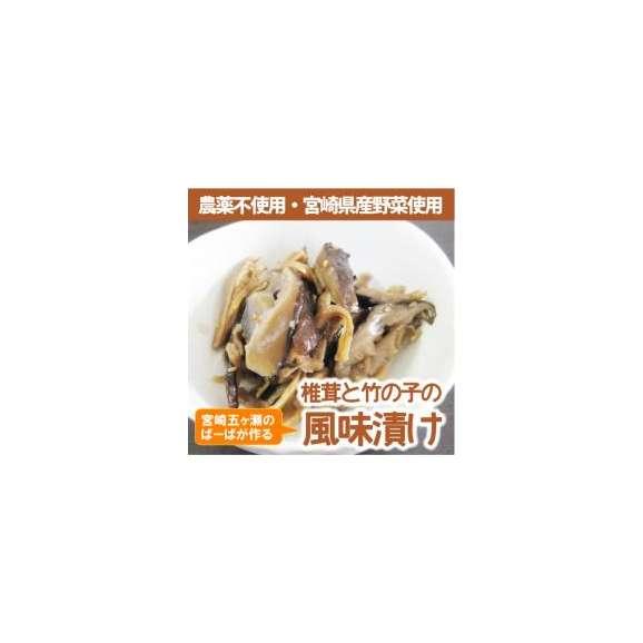 宮崎県産農薬不使用の新鮮野菜を使った『しいたけ竹の子風味漬け』【メール便・代引不可】【お届け目安:1~2週間程度】