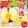 あなたの大切な方への贈物♪幻のりんご福島産「高徳」3kg 10〜14玉 贈答用にもお薦め