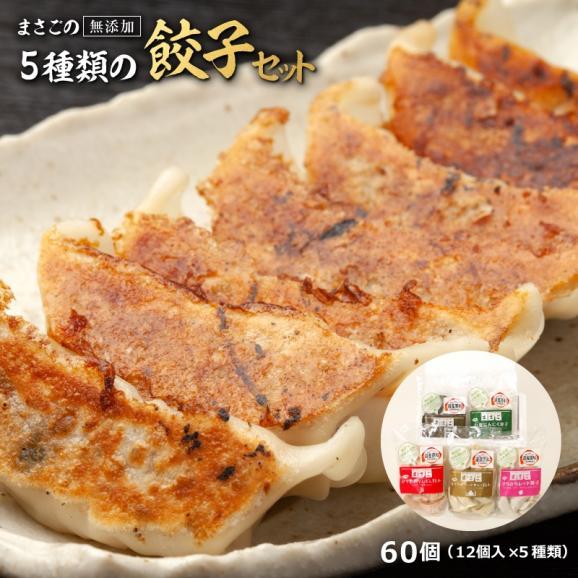 餃子 ぎょうざ ギョウザ まさごの無添加餃子5種類セット 60個(12個入×5種) 無添加うま味調味料使用 北海道 浦河01