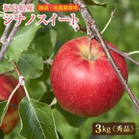 りんご リンゴ 林檎 福島産 シナノスイート 秀品3kg(中〜大玉 8〜11玉)【送料無料】 ご贈答 シナノスイート