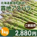 北海道美瑛産 減農薬露地栽培 朝採り新鮮 訳ありアスパラ1kg(M~2Lサイズ20~40本前後×2パック)