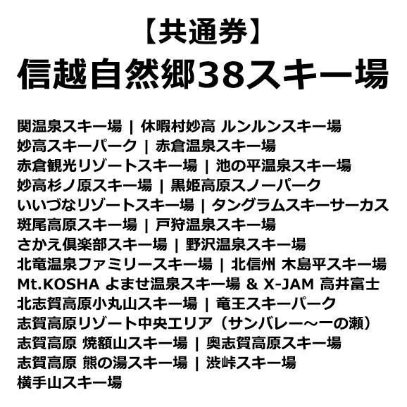 信越自然郷38スキー場共通 スーパーバリューチケット <大人>01