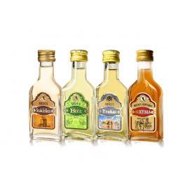 リトアニア国家遺産の蜂蜜酒をミニチュアサイズにした4種セット