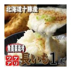 北海道産 無農薬栽培 長芋(ながいも) 1kg(1−6本入り)