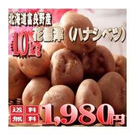 北海道富良野産 稀少なじゃがいも 花標津(ハナシベツ) 10kg(S-L込)  【送料無料】