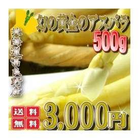 北海道富良野産 黄金のアスパラガス 最高品質の秀品 500g【送料無料】