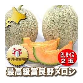 北海道富良野産 最高級赤肉メロン 2玉入り【送料無料】