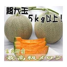 北海道富良野産 赤肉メロン 希少!超大玉3Lサイズ2玉5kg 【送料無料】