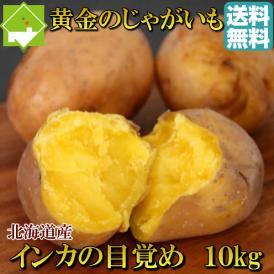 北海道産 じゃがいも インカのめざめ 10kg【送料無料】 日時指定不可