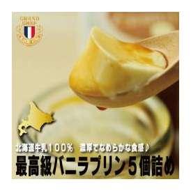 北海道産 牛乳使用 ブランシュネージュ バニラプリン5個セット