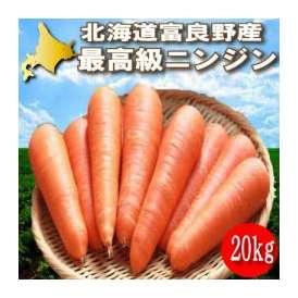 北海道富良野産 洗い人参(にんじん) 20kg入り(SからL込) 【送料無料】 【ニンジン】