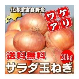 【送料無料】訳あり!北海道富良野産 低農薬で生でもあま〜い サラダ玉葱(たまねぎ) 20kg