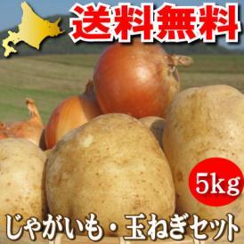 北海道富良野産 玉ねぎ、じゃがいも メガ盛り5kg以上セット 送料無料