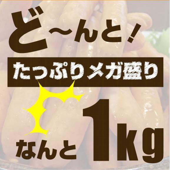 【同梱OK】ジューシー!粗挽きソーセージたっぷり1kg(特別価格)1,300円お子様にもご家族にもおひとり様にも!!04