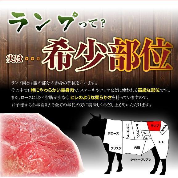 【3セットで送料無料】国産牛ランプスライス150g★4セットでオマケ付★03