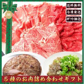 【送料無料・冷凍】5種のお肉詰め合わせギフトセット