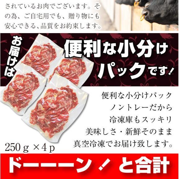 【送料無料】黒毛和牛!贅沢・霜降り切り落としたっぷりメガ盛り1kg( 和牛 切り落とし 訳あり 国産 牛 牛肉 1kg )06