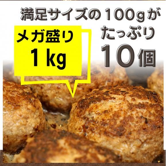 【冷凍】チーズインハンバーグ メガ盛り 1kg (12時までの御注文で当日発送、土日祝を除く)惣菜 弁当 おかず02