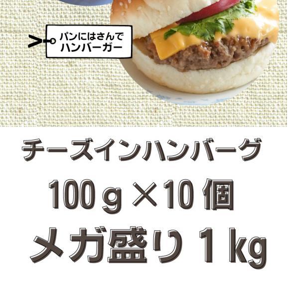 【冷凍】チーズインハンバーグ メガ盛り 1kg (12時までの御注文で当日発送、土日祝を除く)惣菜 弁当 おかず05