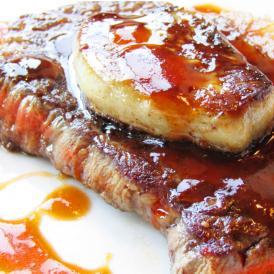 【送料無料】フォアグラ & 国産牛ランプステーキセット 《*冷凍便》 (4人前)