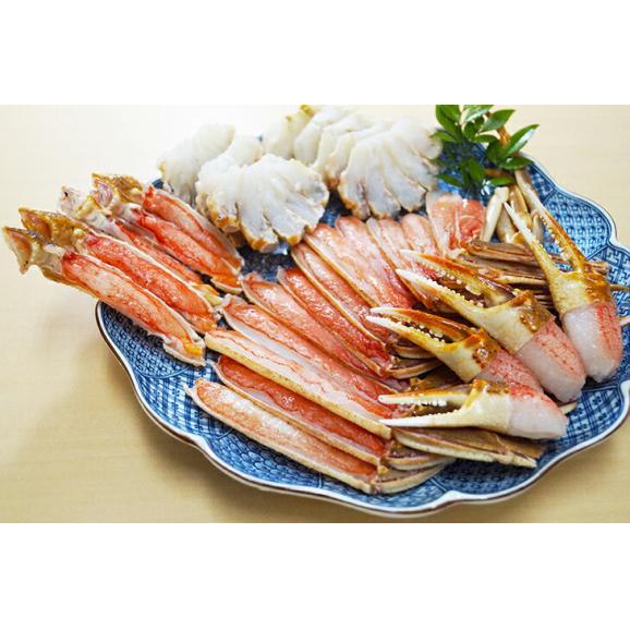 国内加工! カットズワイ蟹1kg ズワイガニ ハーフポーション 蟹 かに カニ01