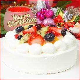 クリスマスケーキ 2021 予約 送料無料 フルーツ 生デコレーションケーキ 5号 ギフト プレゼント スイーツ 早割 早期割引