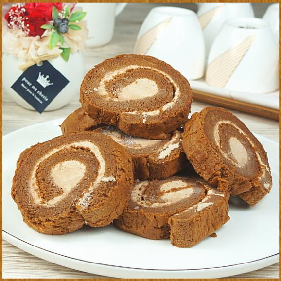 訳あり ロールケーキ スイーツ プレゼント お取り寄せ カットロール チョコレート 8切れ01