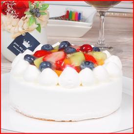 スイーツ 送料無料 誕生日ケーキ ギフト フルーツ 生デコレーションケーキ 5号 誕生日プレート ろうそく 付き