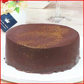 スイーツ 送料無料 誕生日ケーキ ギフト 王様のクーベルショコラ 5号 誕生日プレート ろうそく 付き