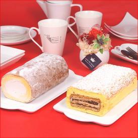 ロールケーキ 冷凍 ギフト 送料無料 つくばロール&チロル 2本セット