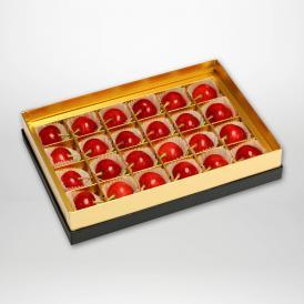 佐藤錦の珠玉のみやび箱詰Lサイズ24粒入りです。