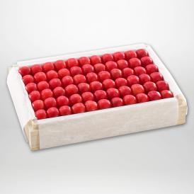 佐藤錦の特撰桐箱詰2Lサイズ約1,100gです。