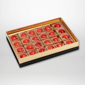 紅秀峰の珠玉のみやび箱詰2Lサイズ24粒入りです。