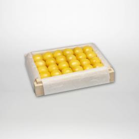 月山錦の特選桐箱詰2~3Lサイズ約300gです。