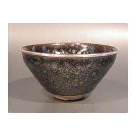 茶道具 天目茶碗 油滴(ゆてき) 特上品、京都 桶谷定一作