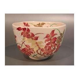 茶道具 抹茶茶碗 錦木( ニシキギ )、花蝶窯 手塚石雲作
