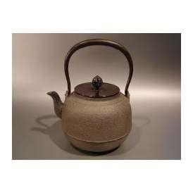 茶器・茶道具 鉄瓶 真形(しんなり)8号、日本工芸会 正会員 菊地政光作