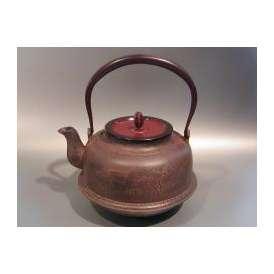 茶器・茶道具 鉄瓶 真形(しんなり) 浜辺の松図、手塚 圭成作