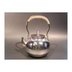 茶器・茶道具 銀瓶 鎚目(つちめ) 湯沸 銀仕上、秀峰堂作