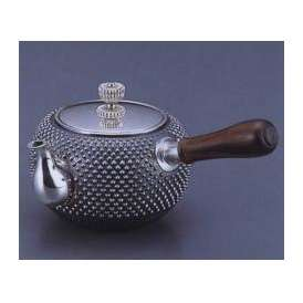 銀製茶器・茶道具 純銀製 丸型アラレ打 横手急須 大野芳光作