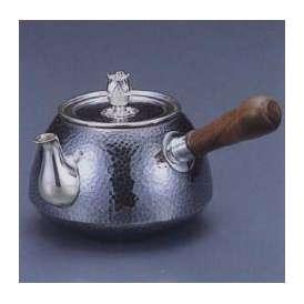 銀製茶器・茶道具 純銀製 釜型 鎚目打 横手急須 大野芳光作