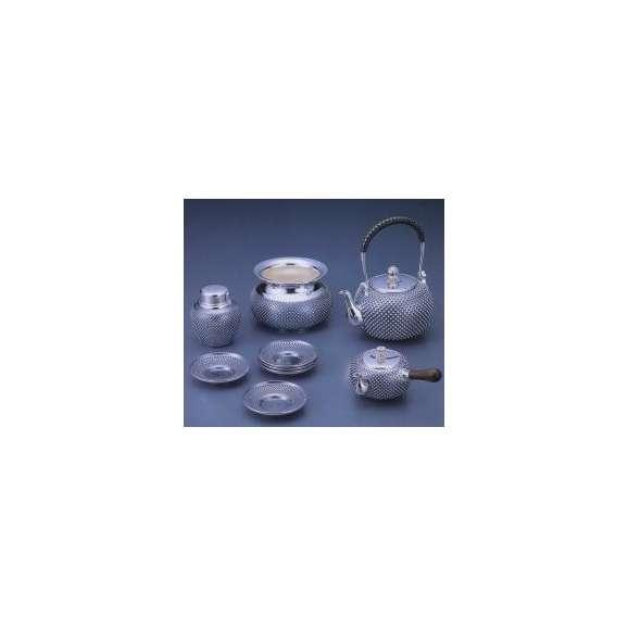 銀製茶器・茶道具 純銀製 茶器 5点セット 大野芳光作01
