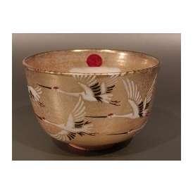 茶碗 金砂子 日の出鶴